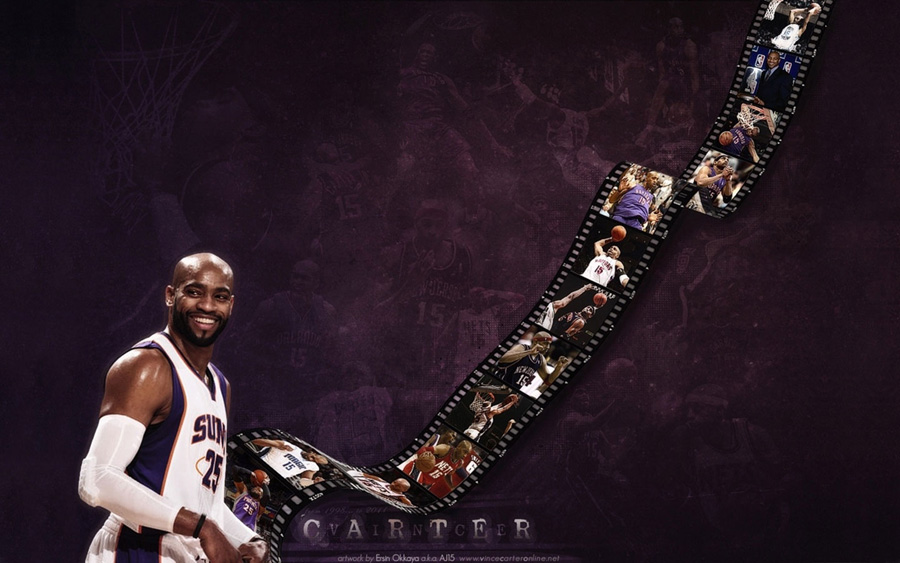 Vince Carter Phoenix Suns Widescreen Wallpaper