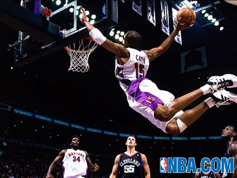 Vince Carter Raptors Dunk Wallpaper