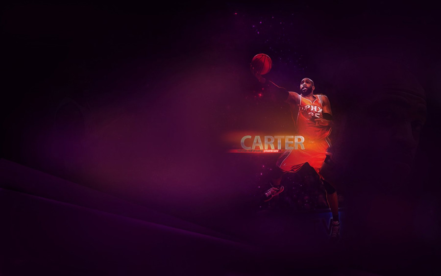 Vince Carter Suns Layup Widescreen Wallpaper