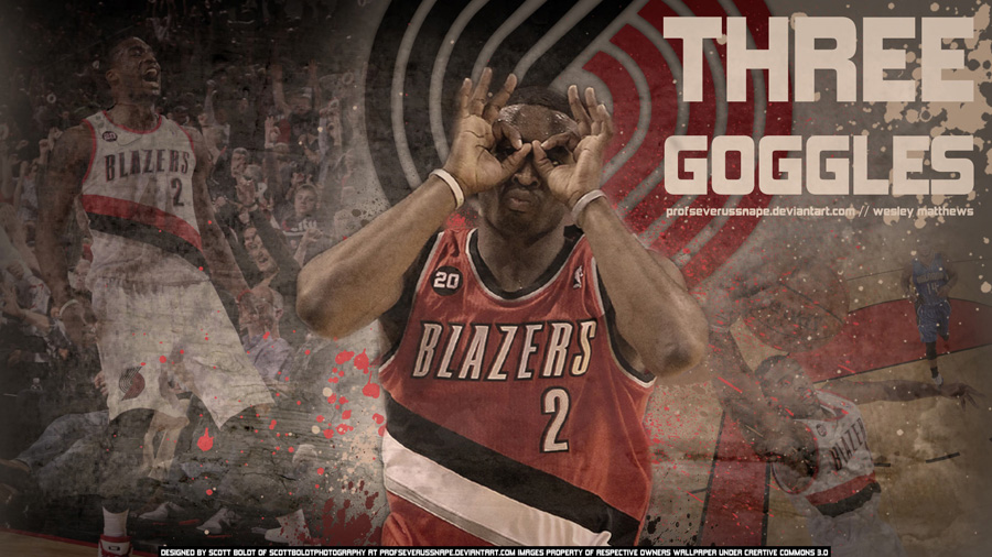 Wesley Matthews Trail Blazers Widescreen Wallpaper