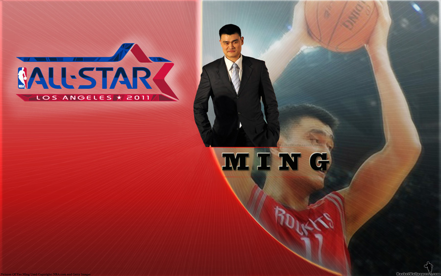 Yao Ming 2011 All-Star Widescreen Wallpaper