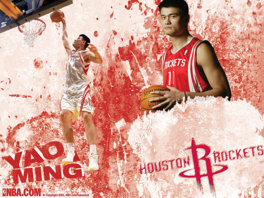 Yao Ming Houston Rockets Wallpaper