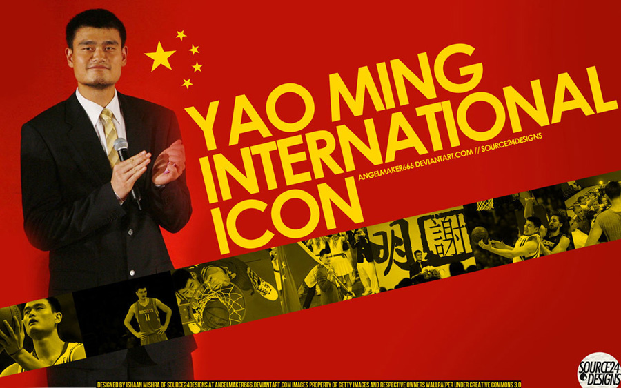 Yao Ming Retirement Widescreen Wallpaper