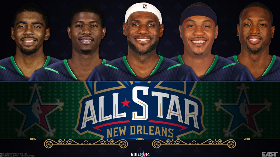 2014 NBA All-Star East Starters 1920x1080 Wallpaper
