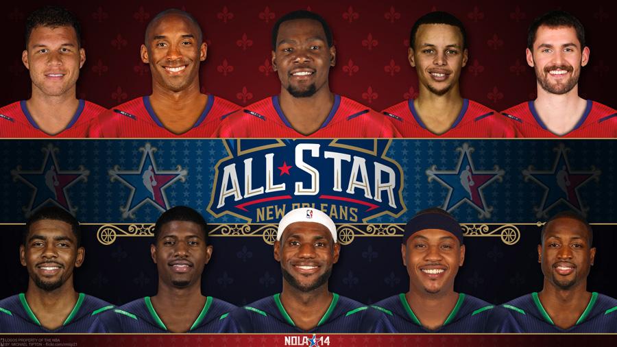2014 NBA All-Star Starters 1920x1080 Wallpaper