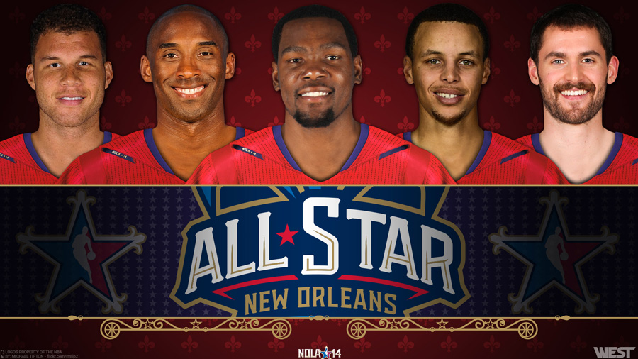2014 NBA All-Star West Starters 1920x1080 Wallpaper