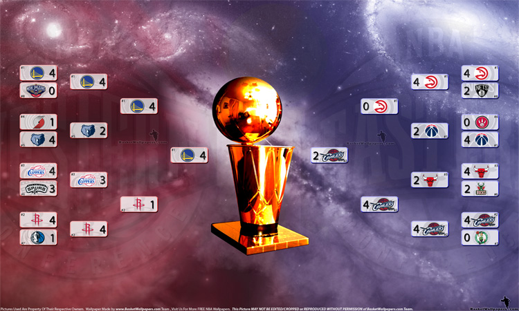 2015 NBA Playoffs Bracket 2560x1600 Wallpaper