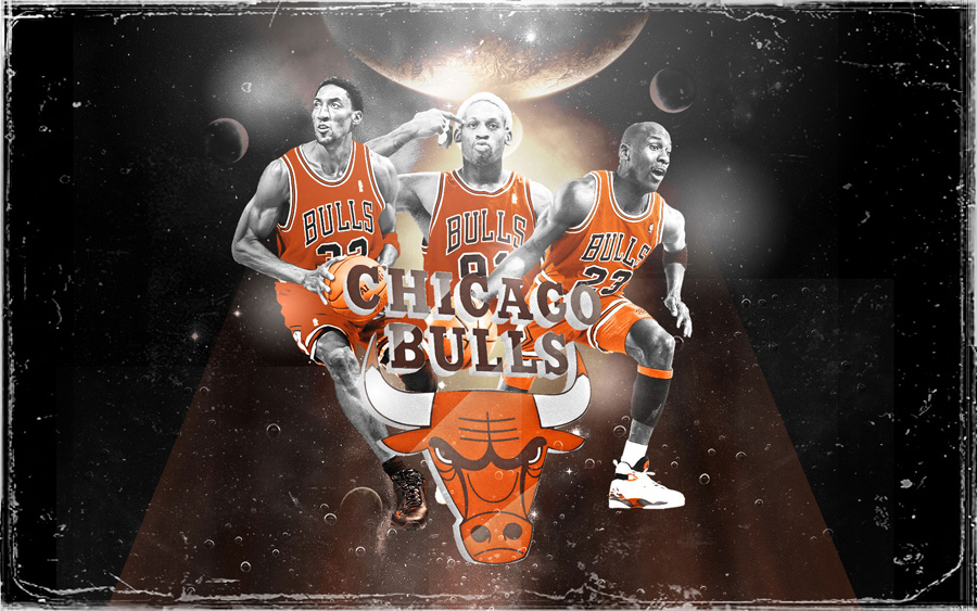 90s Bulls Big 3 Widescreen Wallpaper