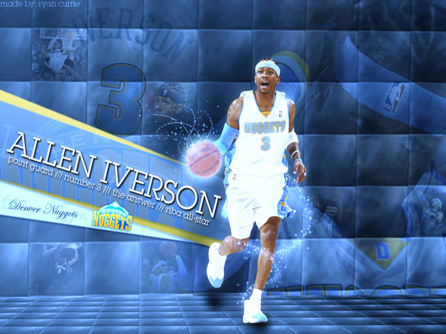 Allen Iverson 3 Nuggets Wallpaper