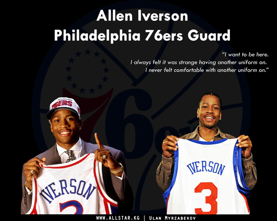 Allen Iverson Back In 76ers Wallpaper