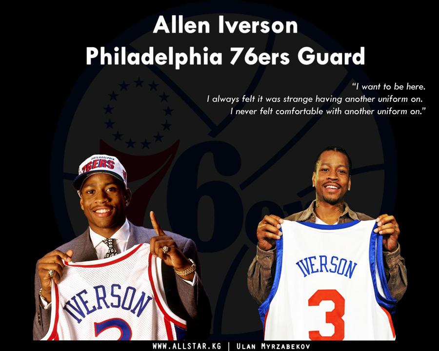 Allen Iverson Back In 76ers Wallpaper