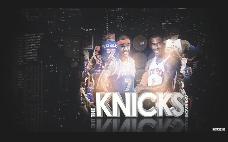 Amare Stoudemire and Carmelo Anthony Knicks Widescreen Wallpaper