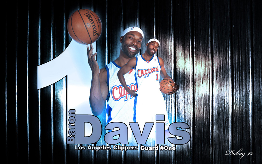 Baron Davis Clippers Widescreen Wallpaper