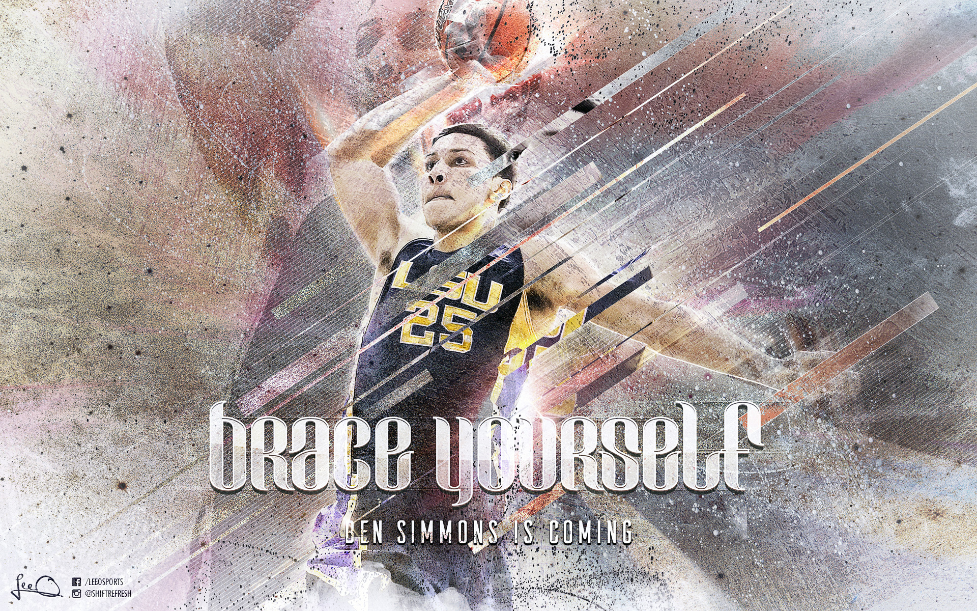 Ben Simmons LSU Tigers 1920x1200 Wallpaper