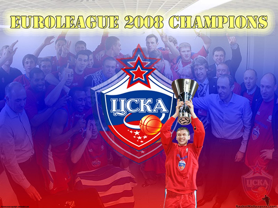 CSKA Moscow Euroleague Champion 2008 Wallpaper