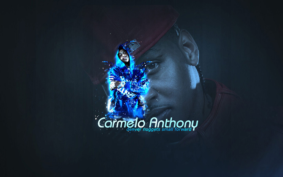 Carmelo Anthony Posing Widescreen Wallpaper