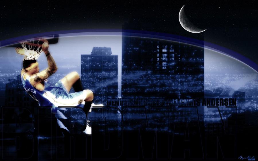 Chris 'Birdman' Andersen Night Dunk Widescreen Wallpaper