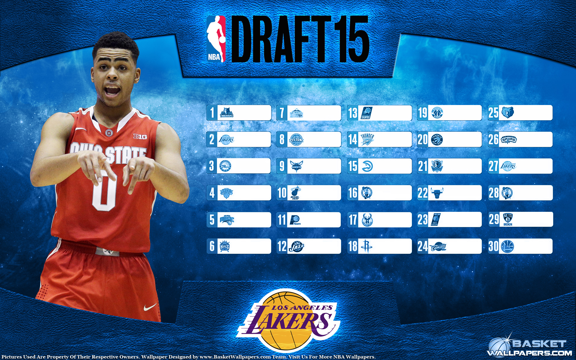 D'Angelo Russell 2015 NBA Draft Wallpaper