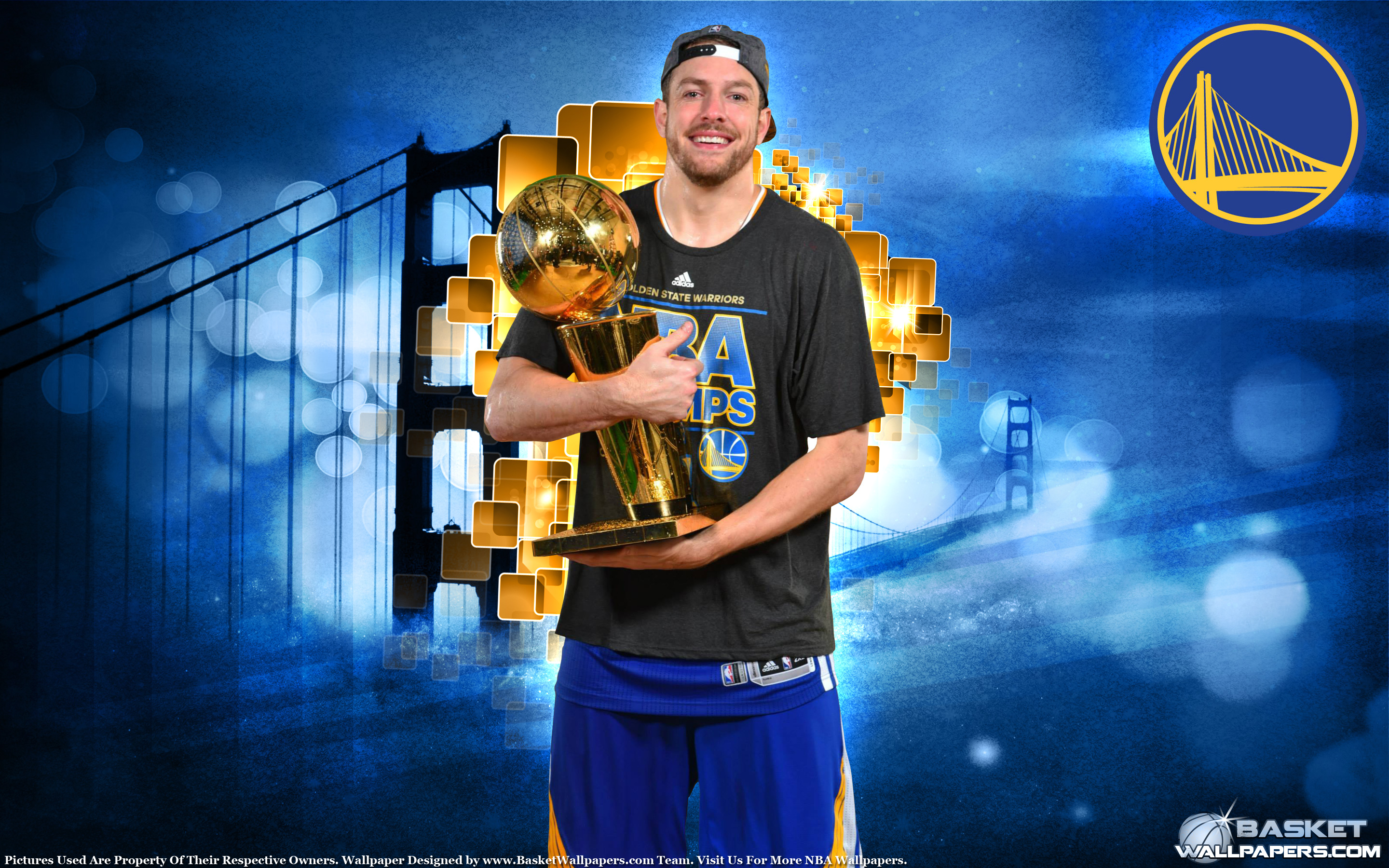 David Lee 2015 NBA Champion Wallpaper