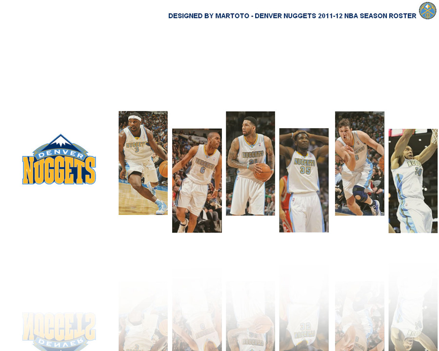 Denver Nuggets 2012 Roster 1280x1024 Wallpaper