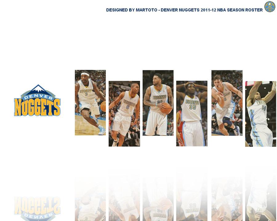 Denver Nuggets 2012 Roster 1280x1024 Wallpaper