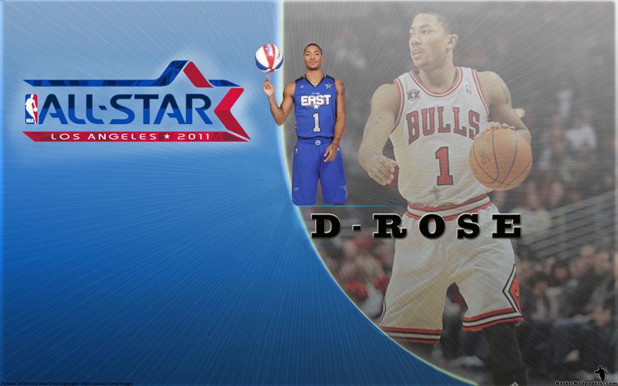Derrick Rose All-Star 2011 Widescreen Wallpaper