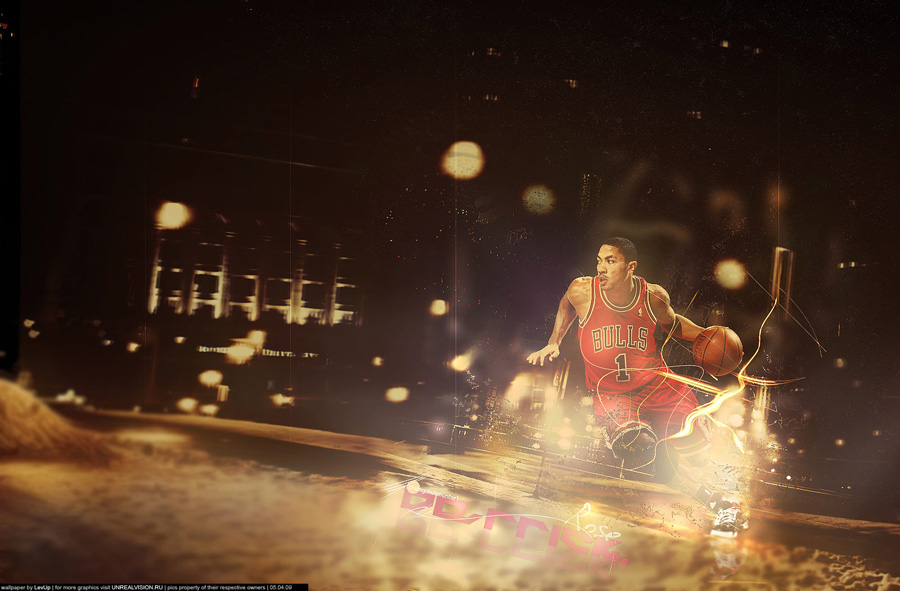 Derrick Rose Widescreen Wallpaper