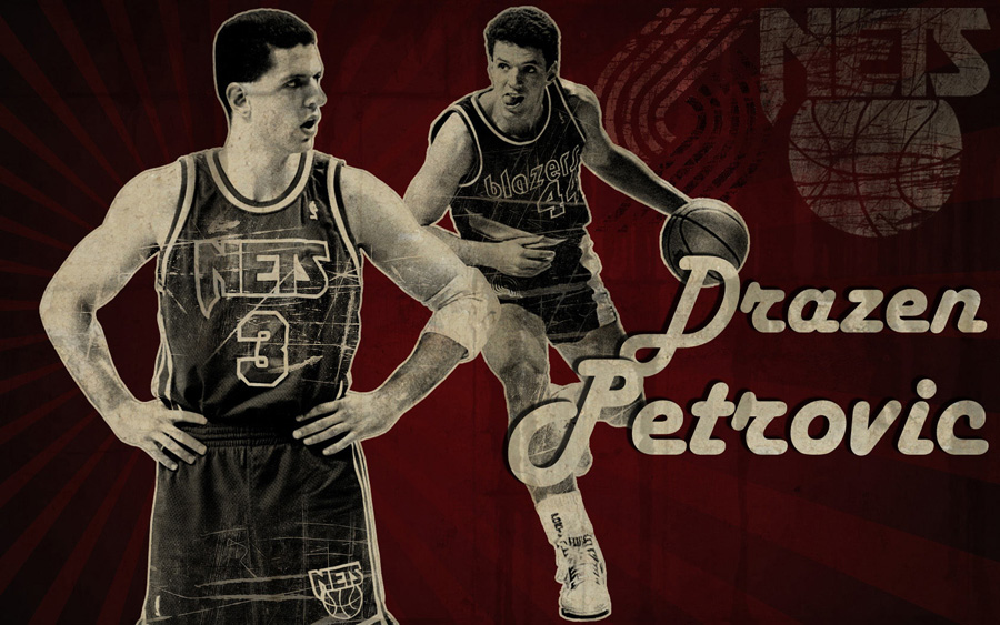 Drazen Petrovic Nets 1680x1050 Wallpaper