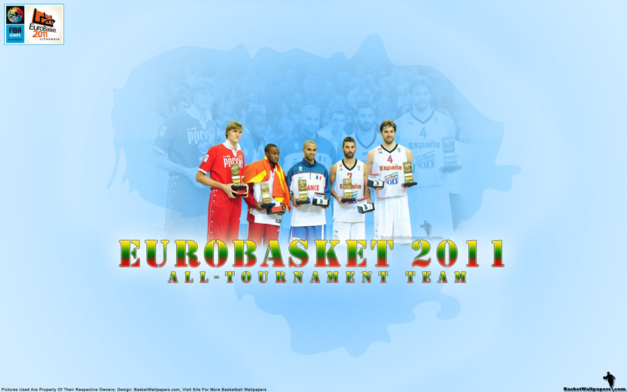 Eurobasket 2011 All-Tournament Team Wallpaper
