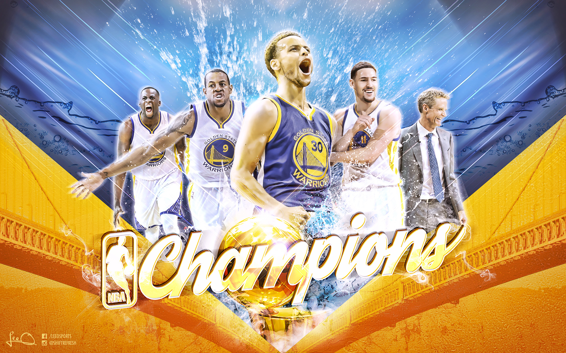 Golden State Warriors 2015 NBA Champions Wallpaper