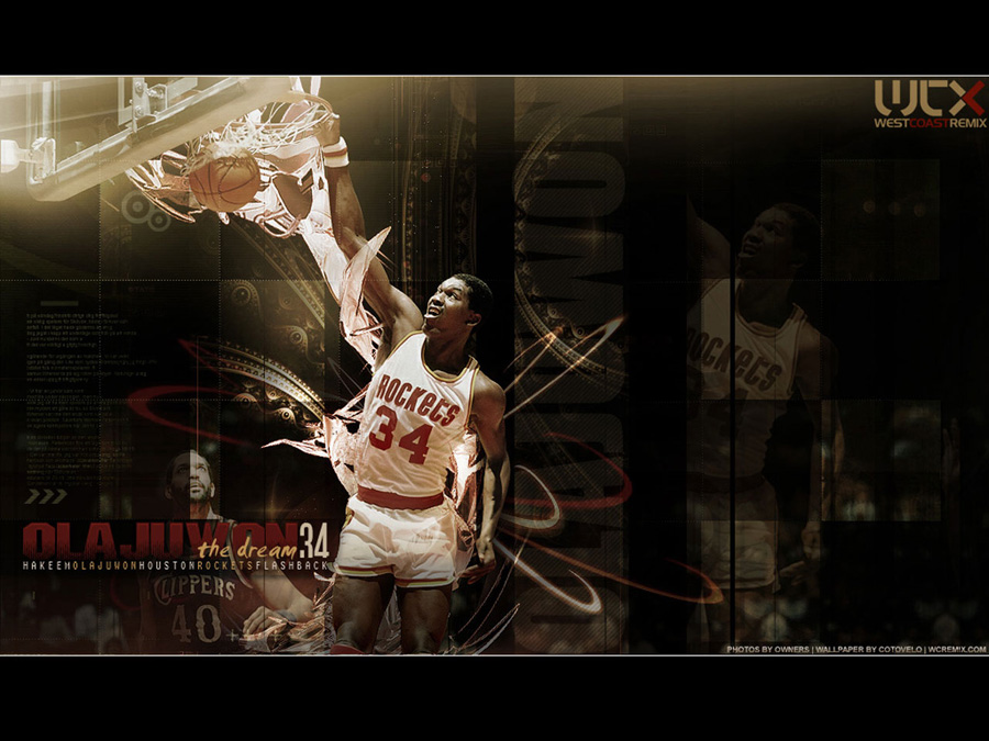 Hakeem Olajuwon Slam Dunk Wallpaper