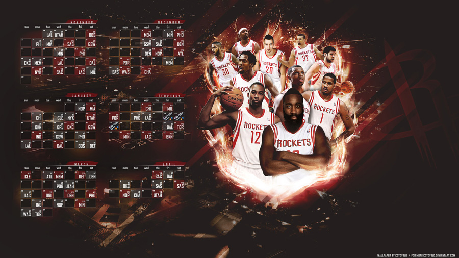 Houston Rockets 2014-2015 Schedule Wallpaper