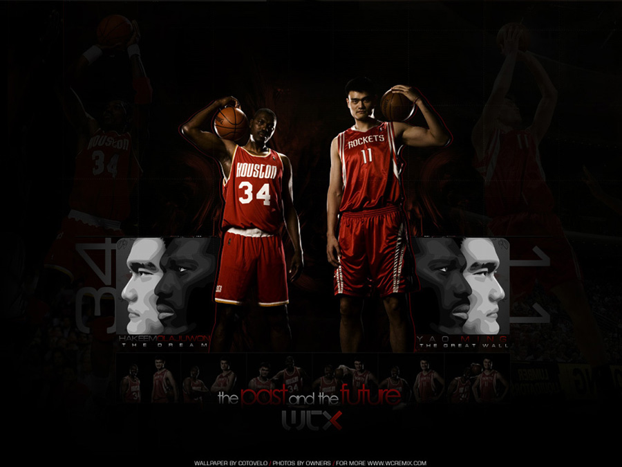 Houston Rockets Olajuwon-Ming Wallpaper
