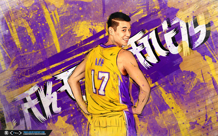 Jeremy Lin LA Lakers 2014 Wallpaper