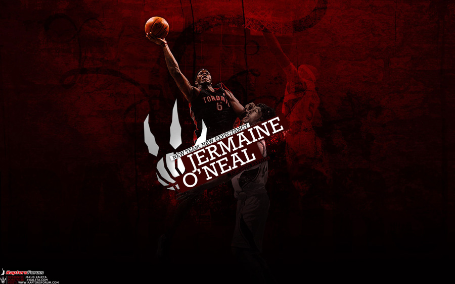 Jermaine O'Neal Raptors Widescreen Wallpaper