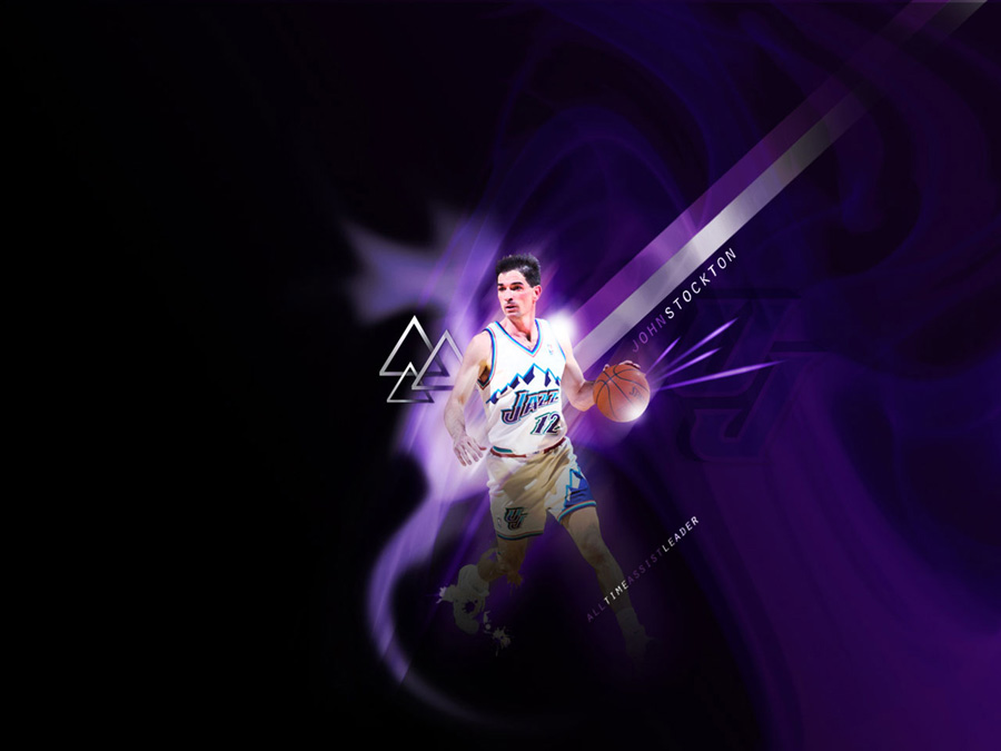 John Stockton All Time Assists Leader Wallpaper