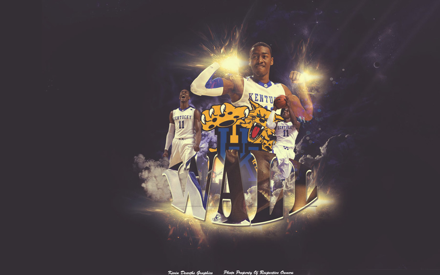 John Wall Kentucky Wildcats Widescreen Wallpaper