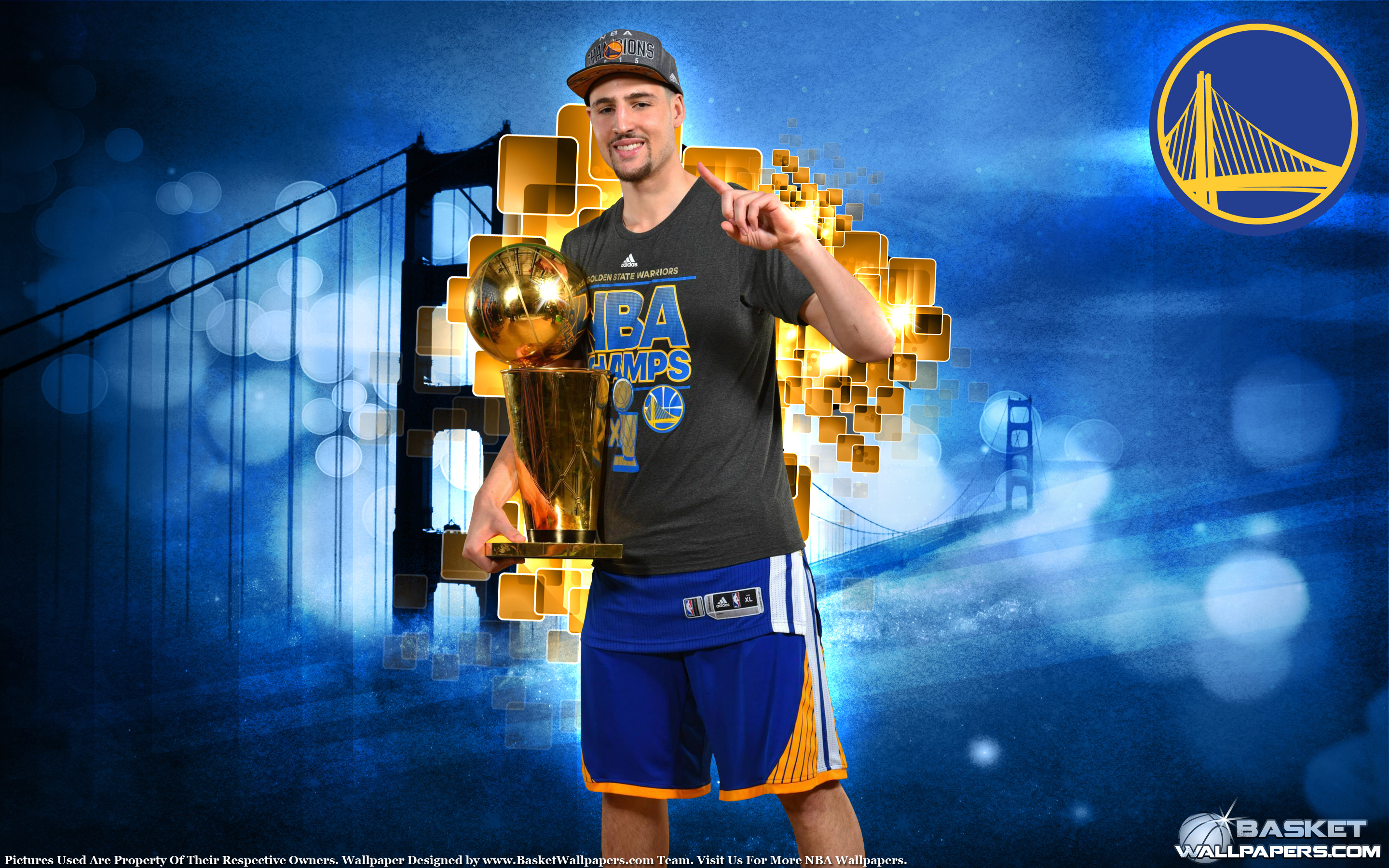 Klay Thompson 2015 NBA Champion Wallpaper