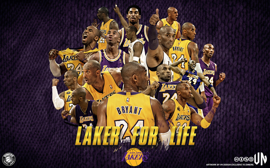Kobe Bryant LA Lakers 1996-2015 Wallpaper