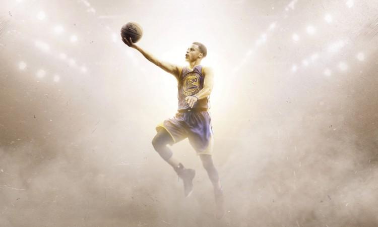 Stephen Curry Golden State Warriors Layup Wallpaper