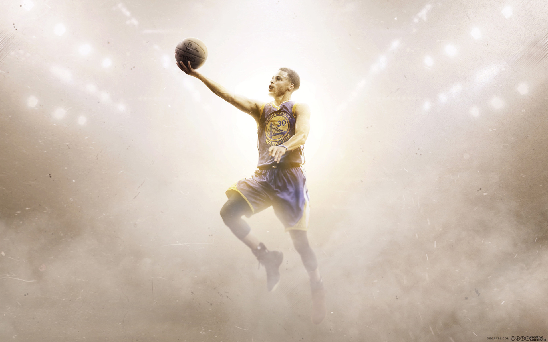 Stephen Curry Golden State Warriors Layup Wallpaper