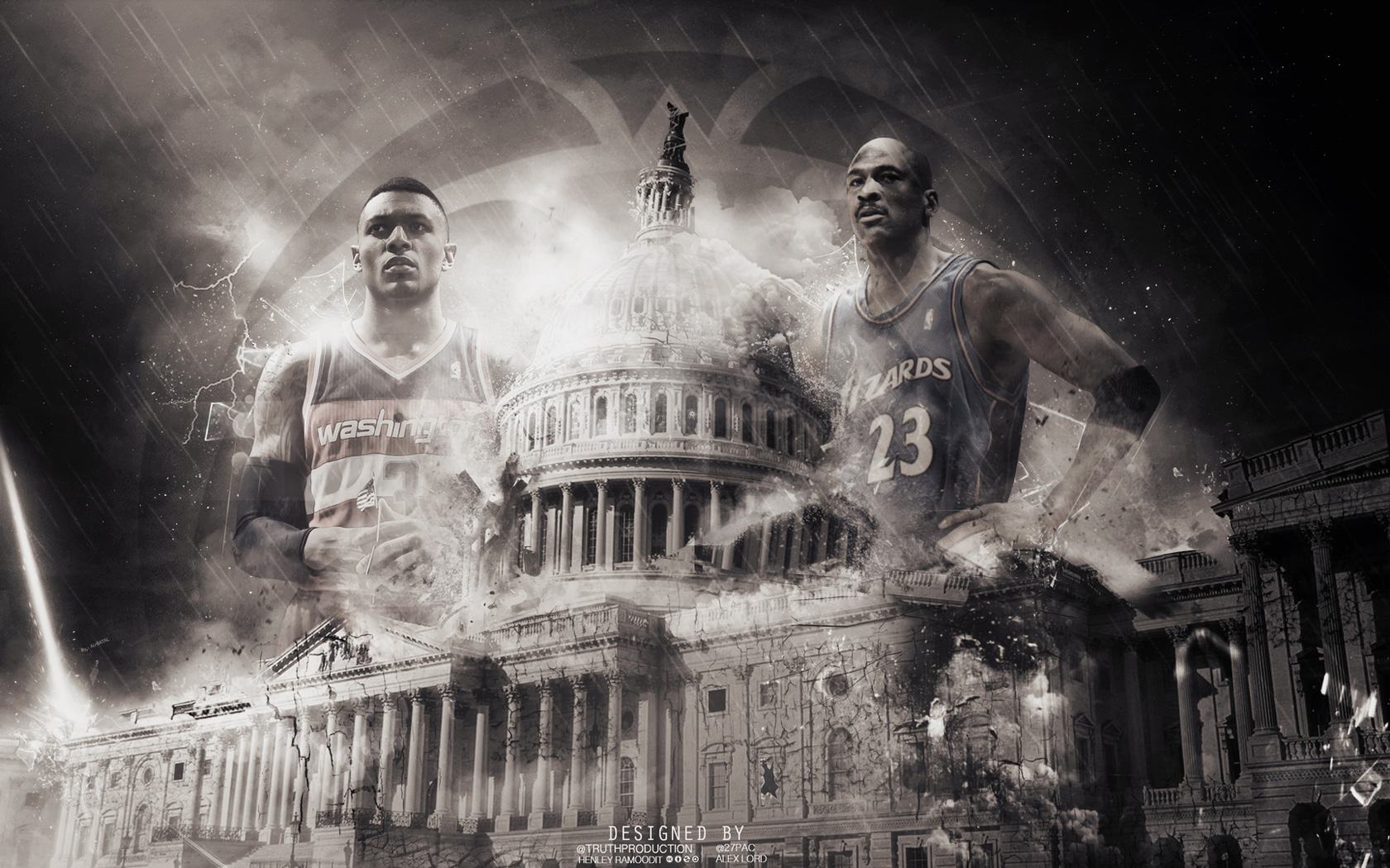 Washington Wizards Beal and Jordan Wallpaper