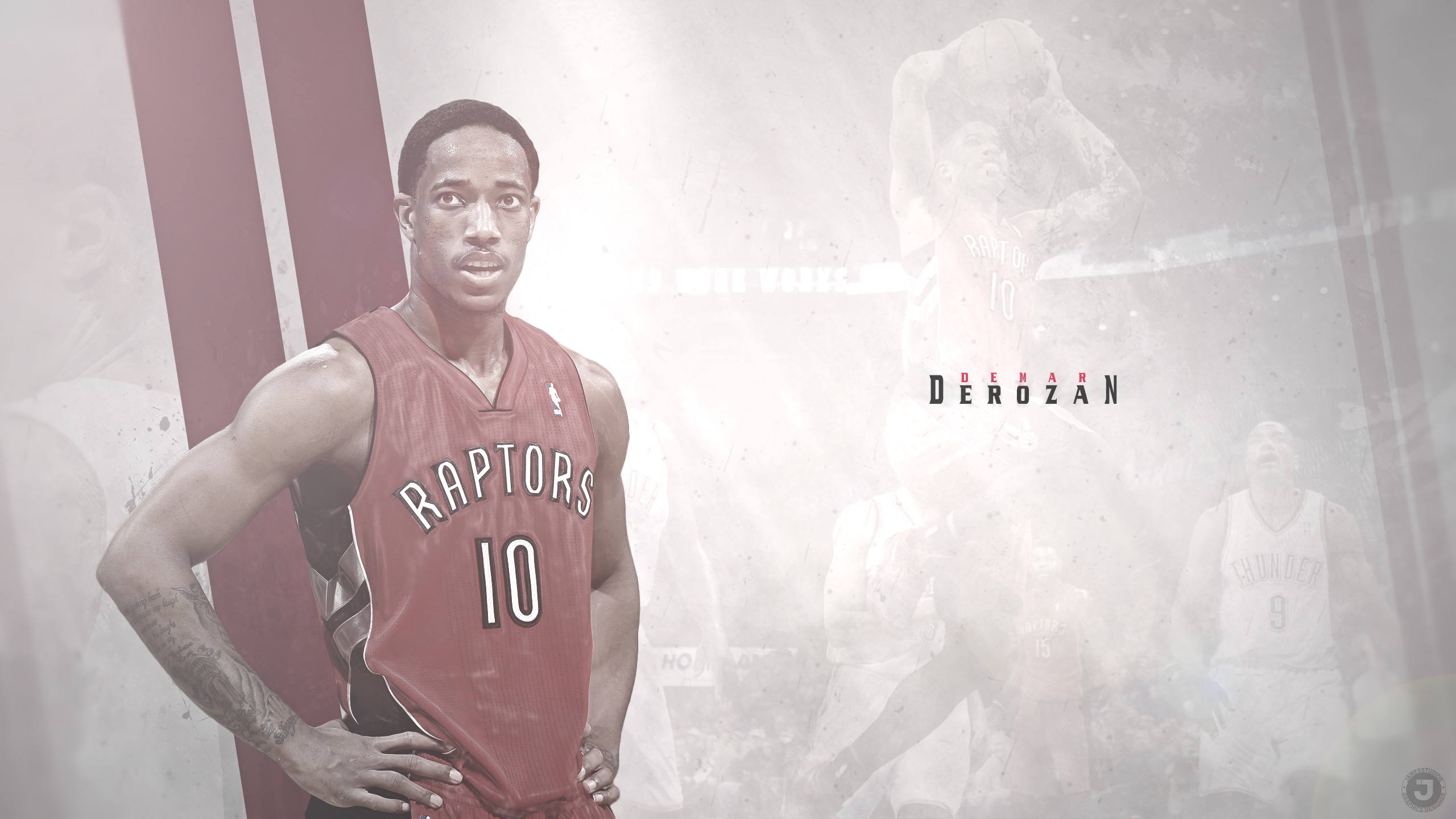 DeMar DeRozan Toronto Raptors 2015 2560x1440 Wallpaper