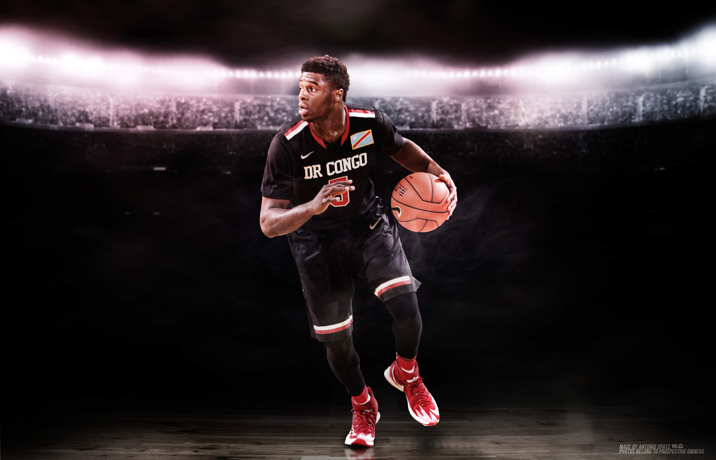 Emmanuel Mudiay Congo National Jersey Wallpaper