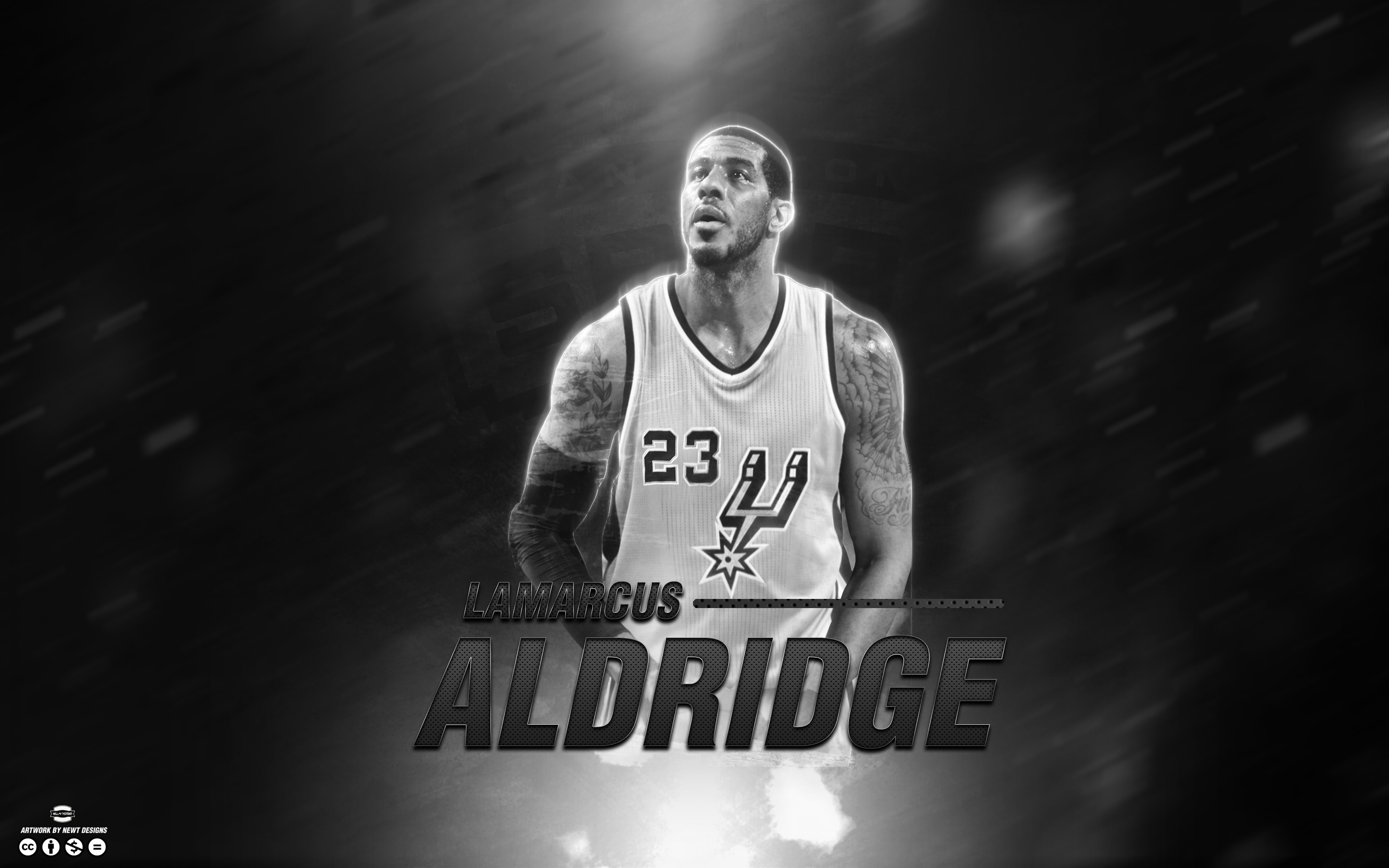 LaMarcus Aldridge Spurs 2015 Wallpaper