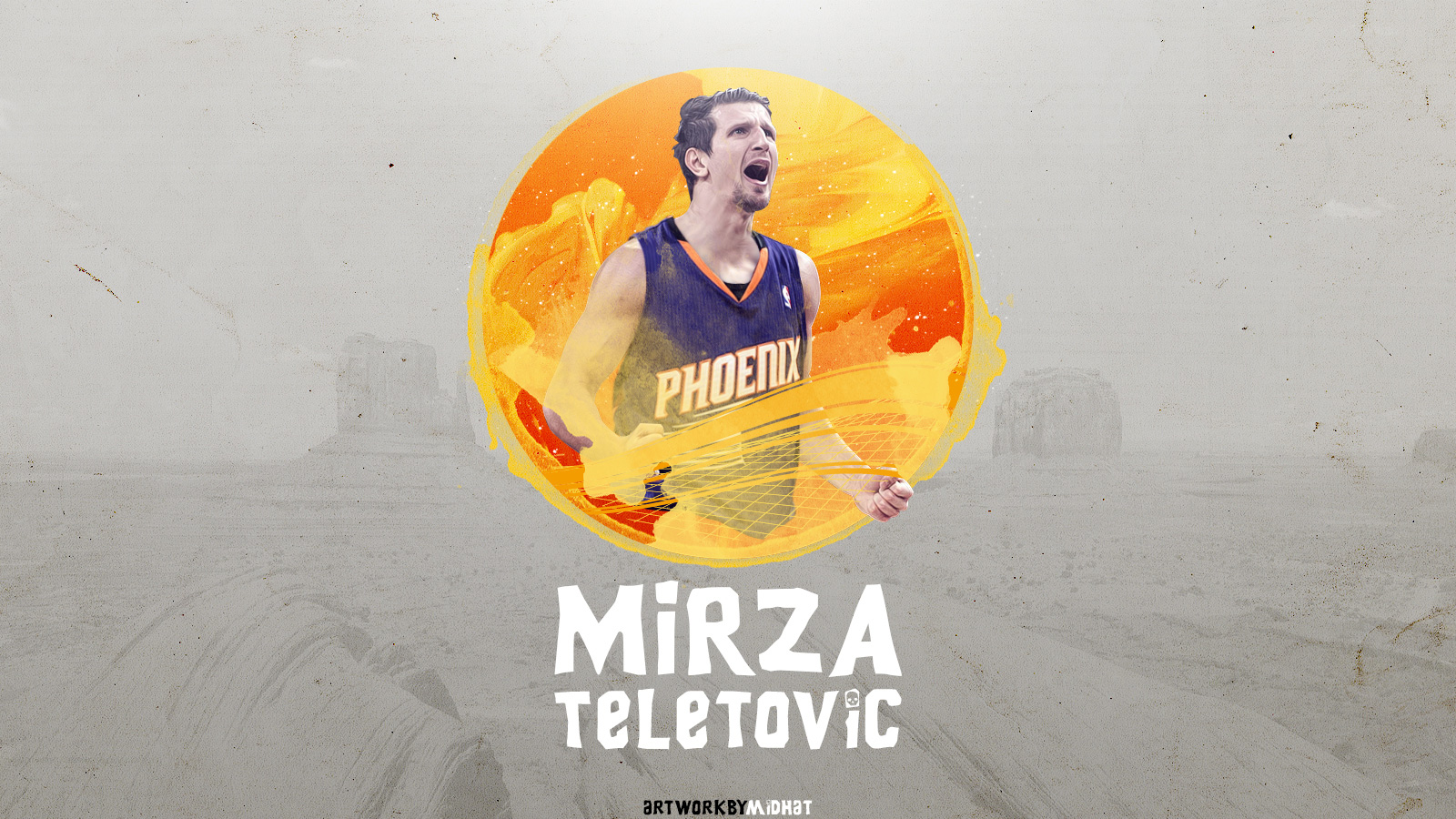 Mirza Teletovic Phoenix Suns 2015 Wallpaper