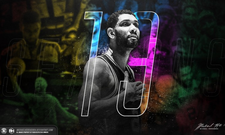 Tim Duncan 19th NBA Season Wallpaper