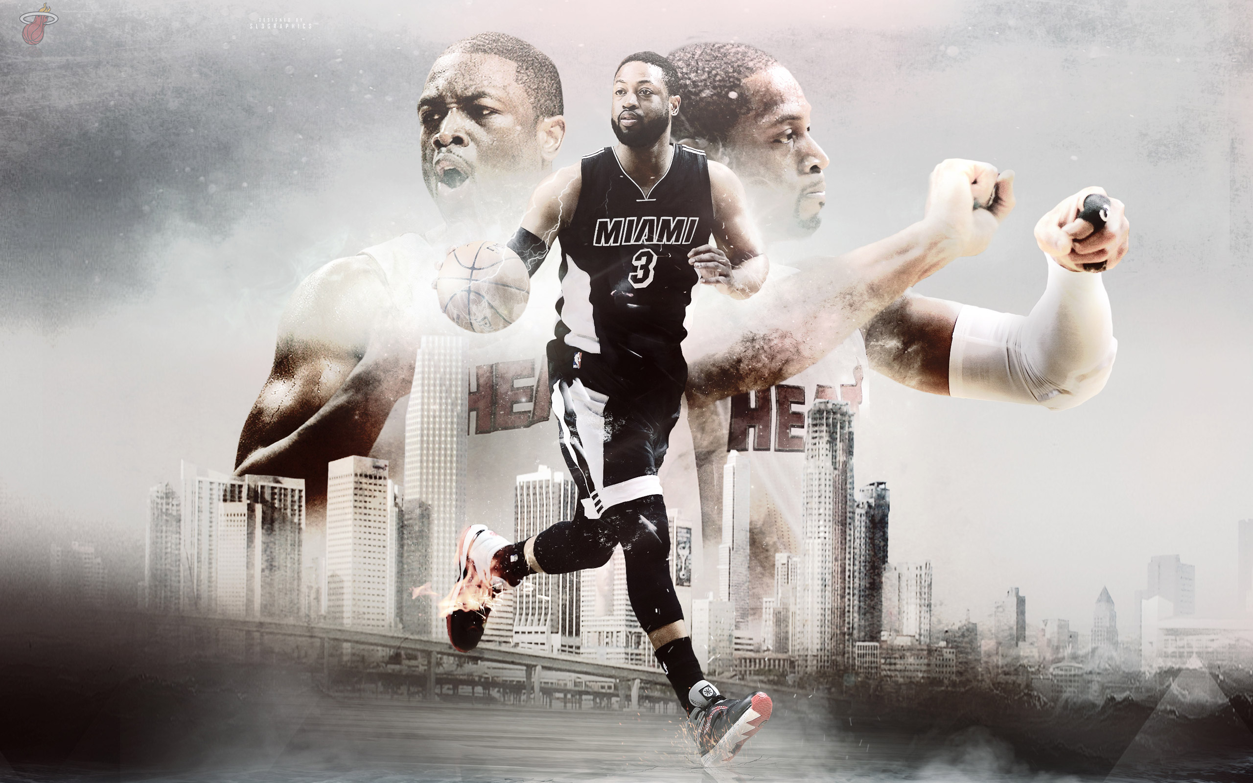 D-Wade Miami Heat 2015 Wallpaper