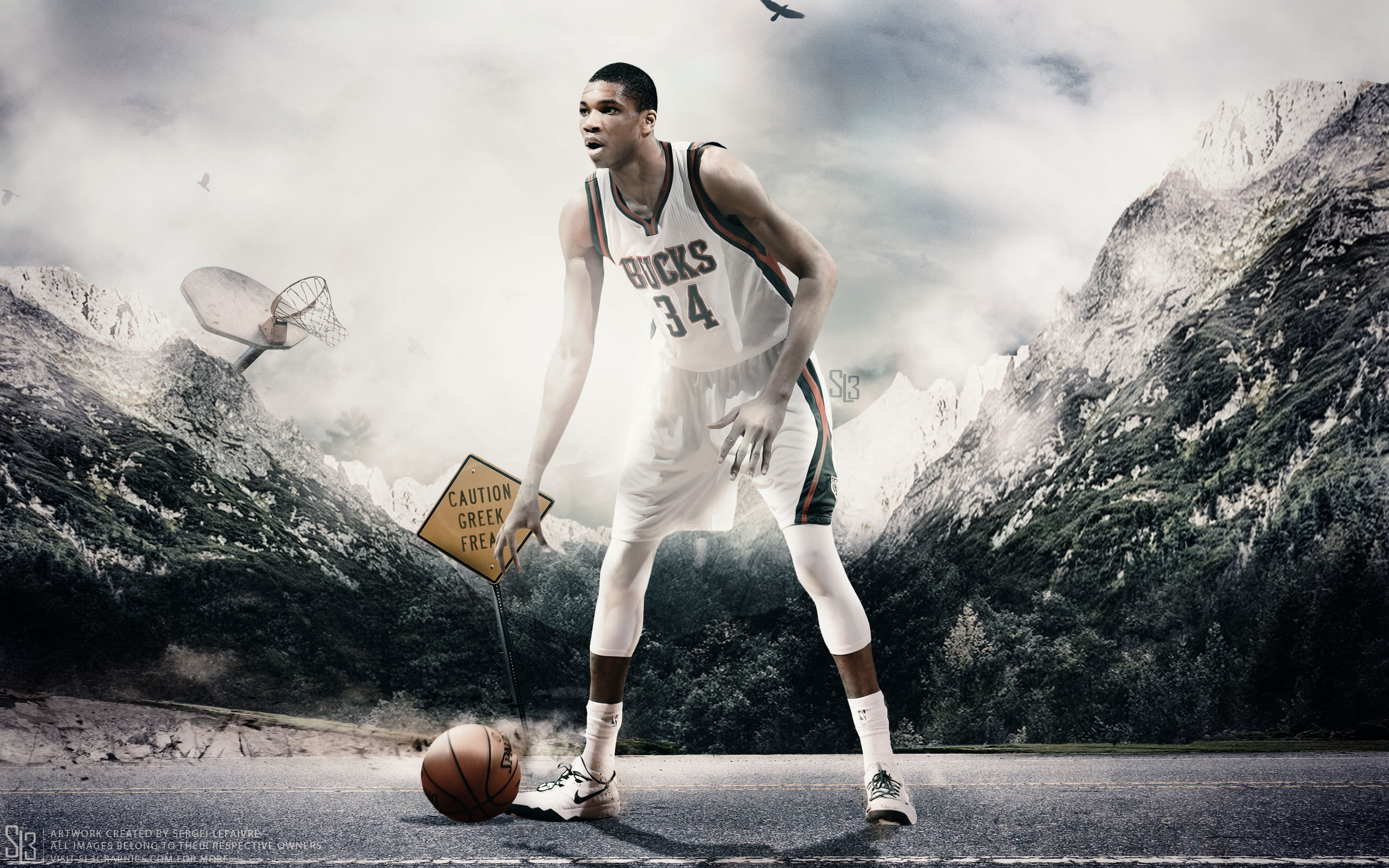Giannis Antetokounmpo Bucks 2015 2880x1800 Wallpaper