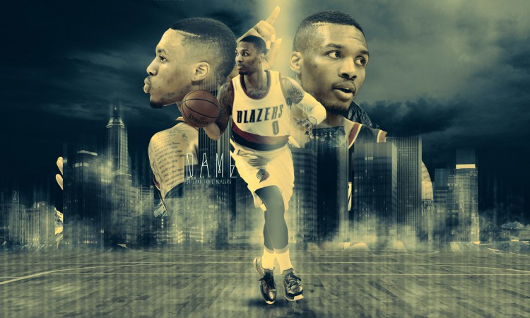 Damian Lillard Trail Blazers 2015 Wallpaper